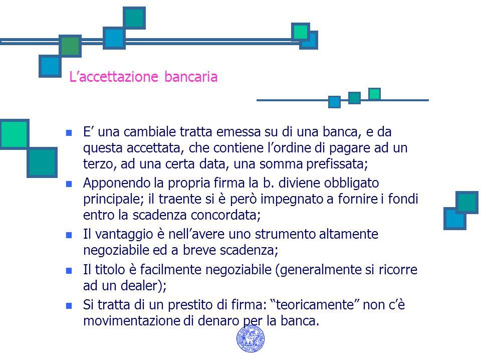 L'accettazione bancaria