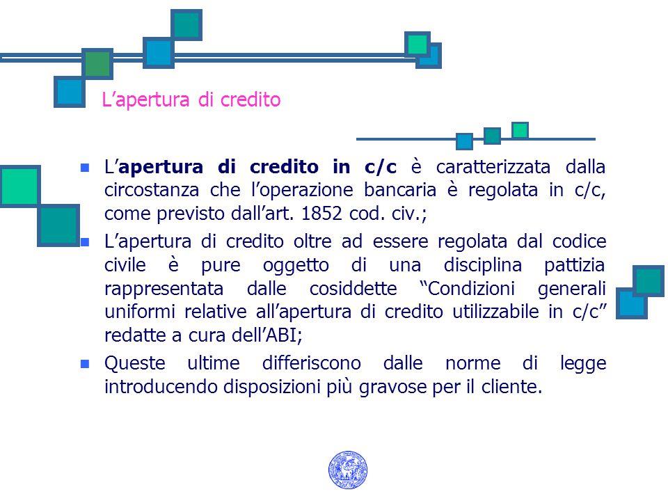 L'apertura di credito