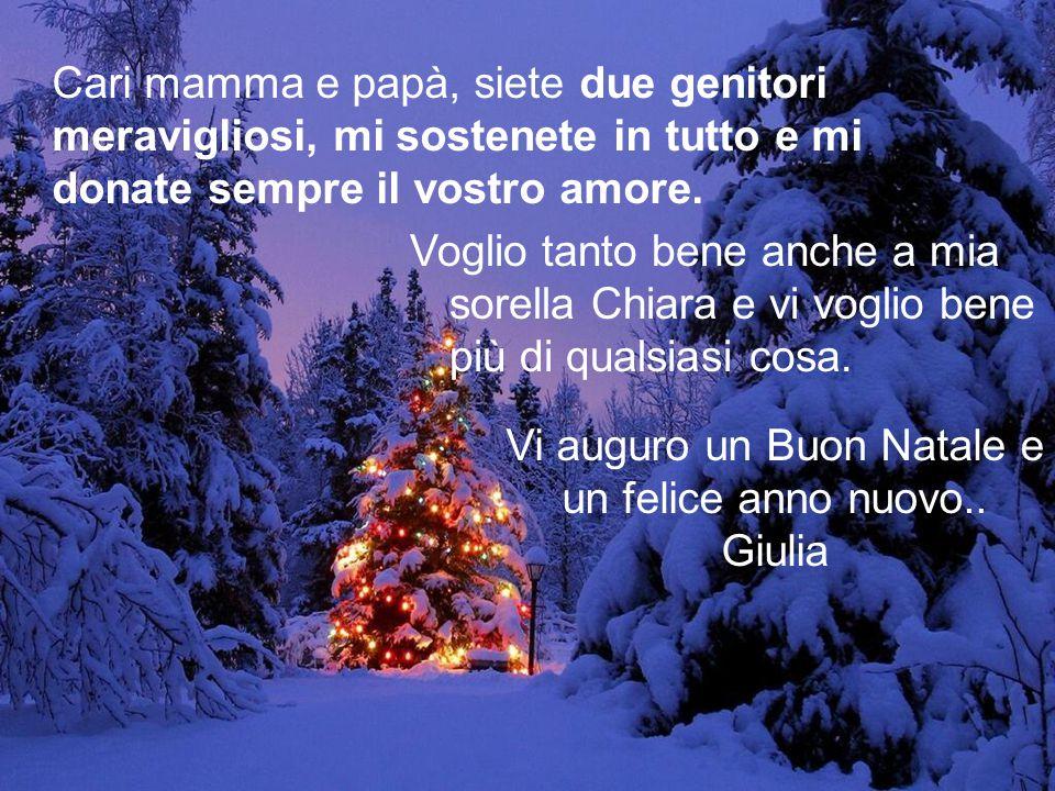 Vi auguro un Buon Natale e un felice anno nuovo..