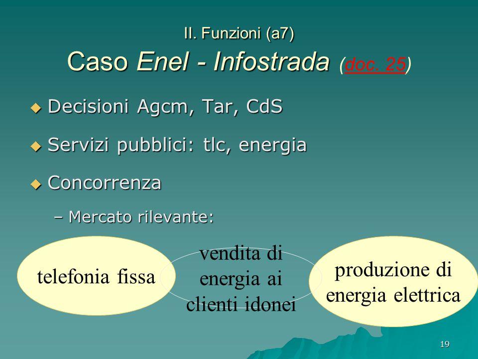 II. Funzioni (a7) Caso Enel - Infostrada (doc. 25)
