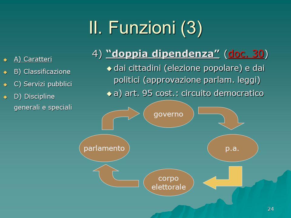 II. Funzioni (3) 4) doppia dipendenza (doc. 30)