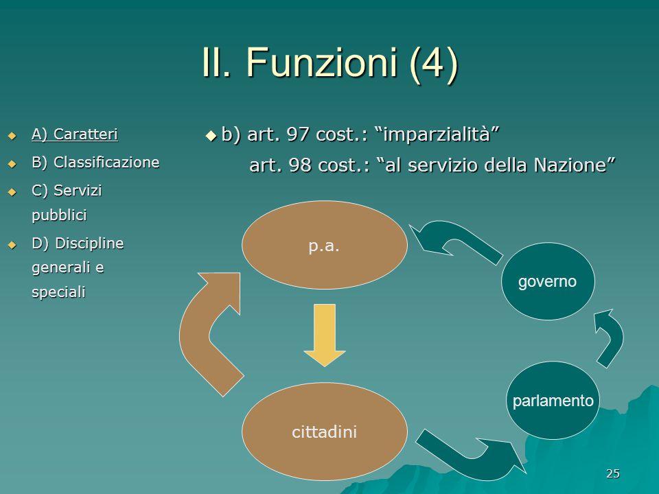 II. Funzioni (4) b) art. 97 cost.: imparzialità