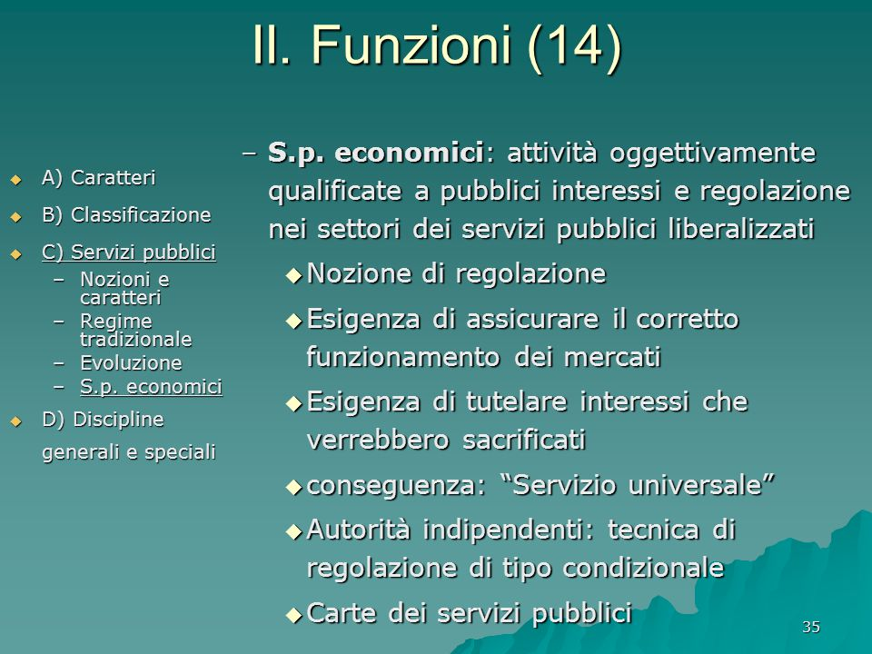 II. Funzioni (14)