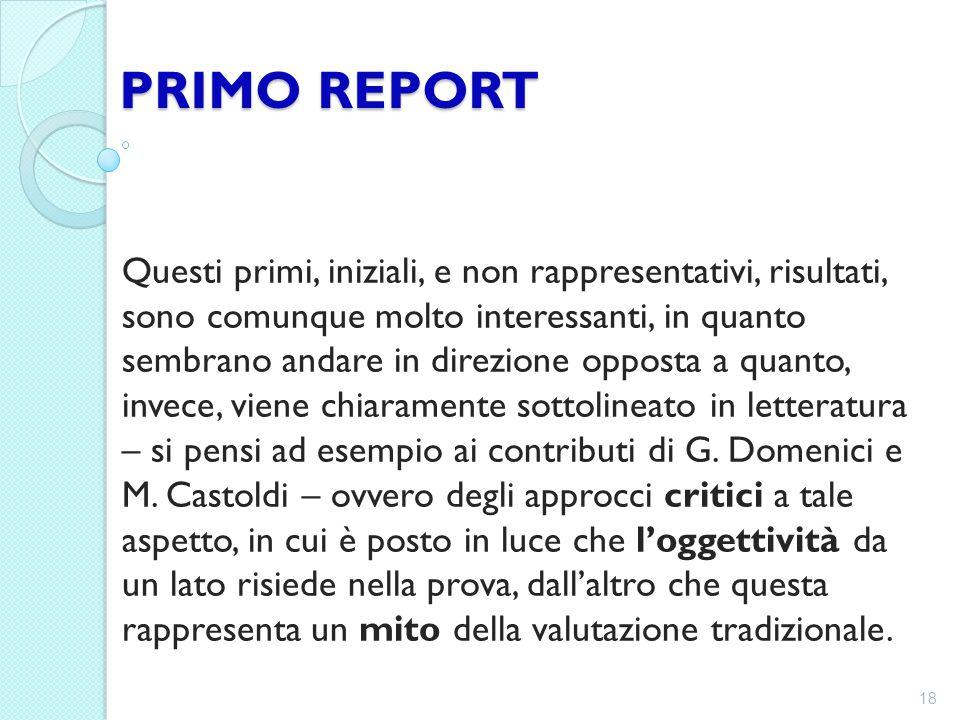 PRIMO REPORT