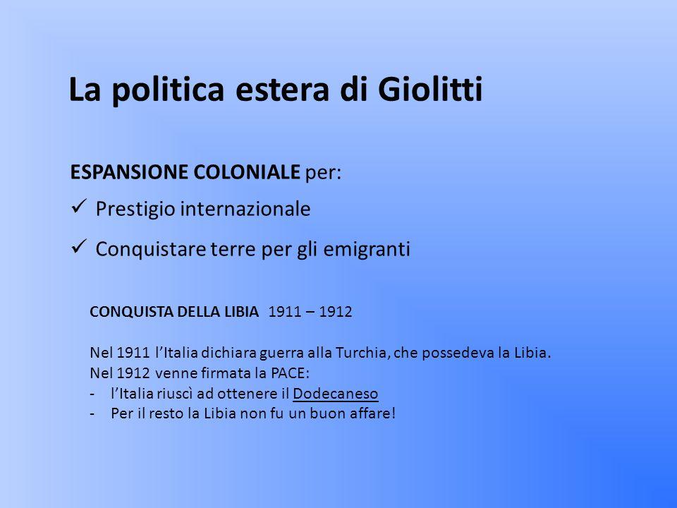 La politica estera di Giolitti