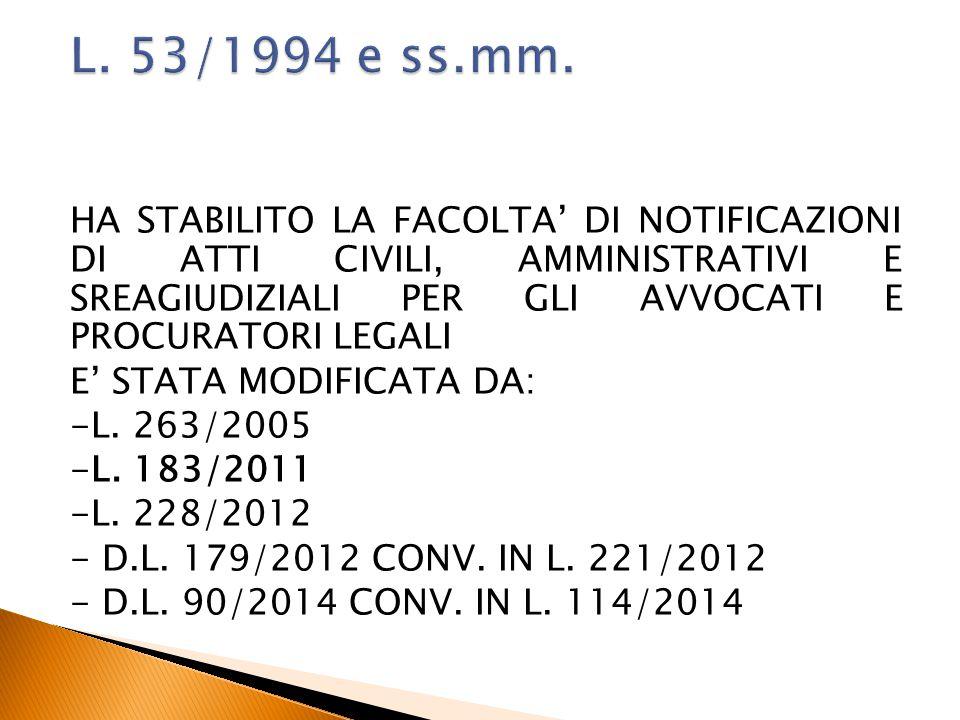 L. 53/1994 e ss.mm.