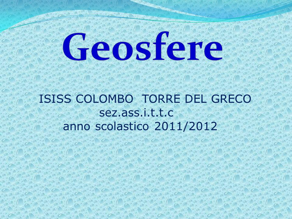 Geosfere ISISS COLOMBO TORRE DEL GRECO sez.ass.i.t.t.c