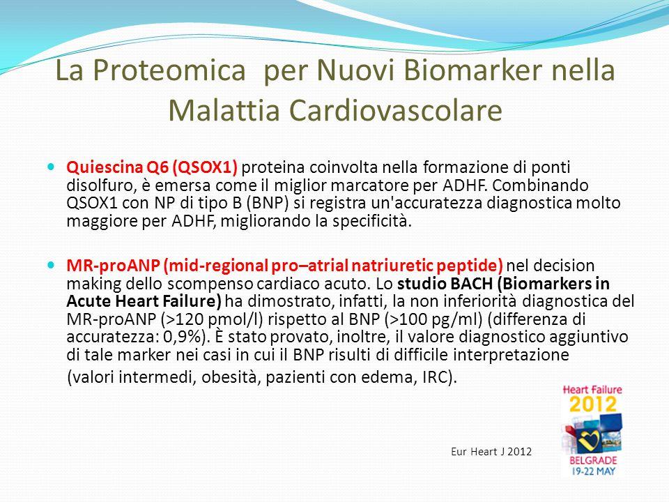 La Proteomica per Nuovi Biomarker nella Malattia Cardiovascolare