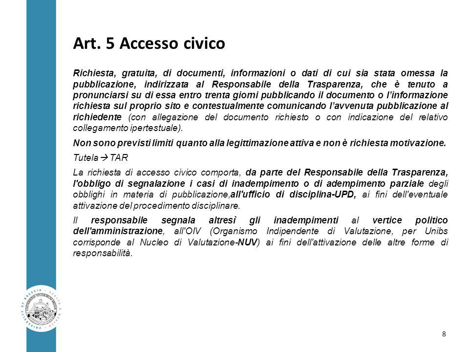 Art. 5 Accesso civico