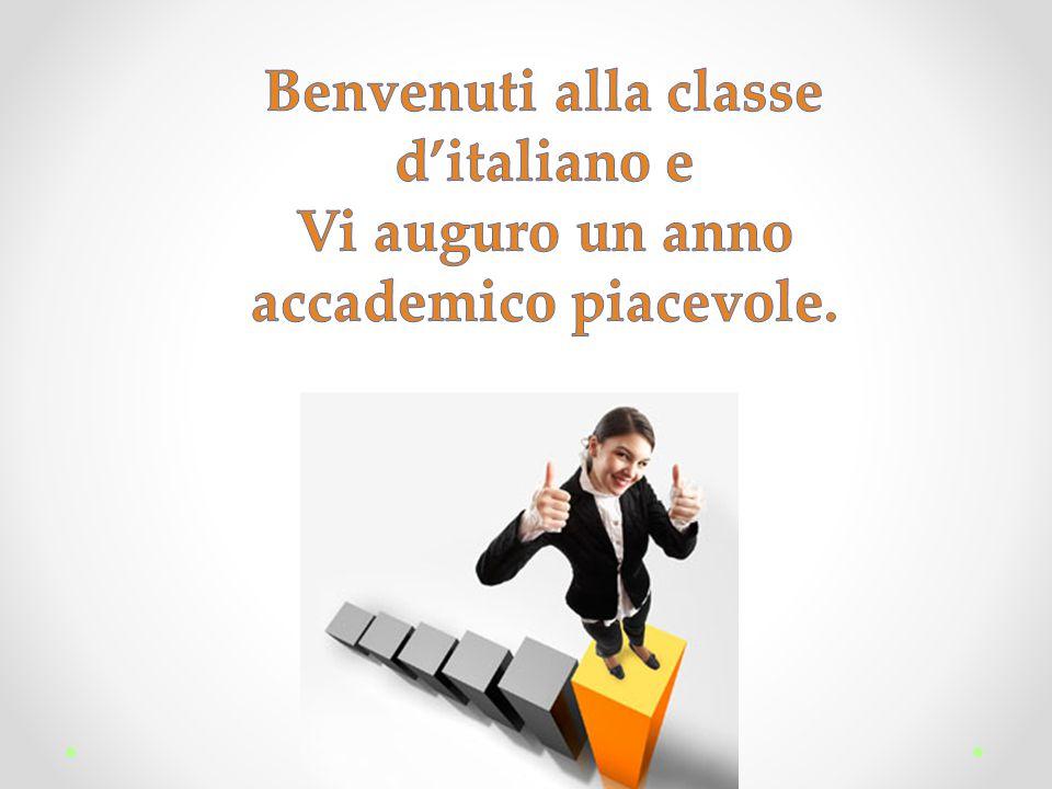 Benvenuti alla classe d'italiano e