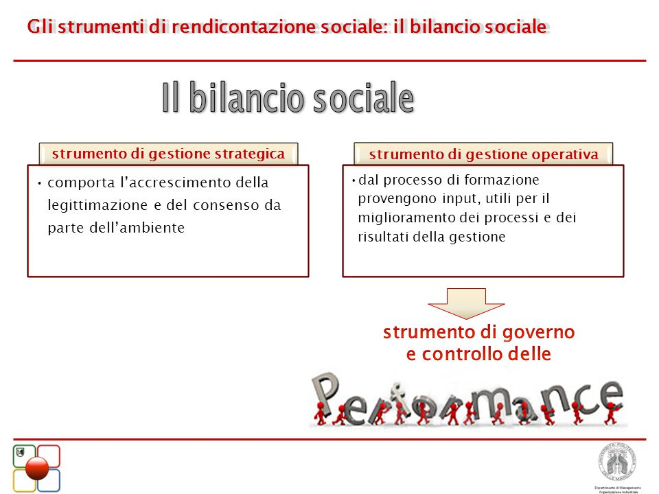Gli strumenti di rendicontazione sociale: il bilancio sociale