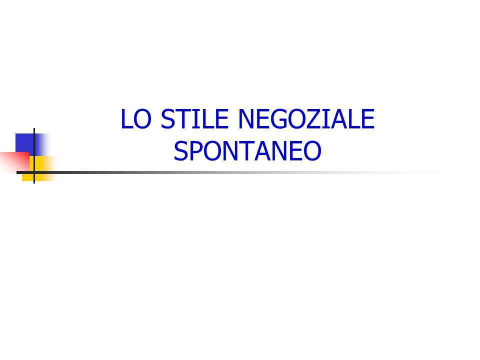 LO STILE NEGOZIALE SPONTANEO