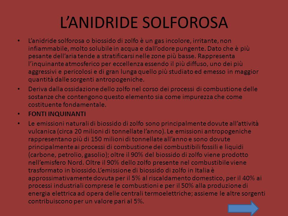L'ANIDRIDE SOLFOROSA