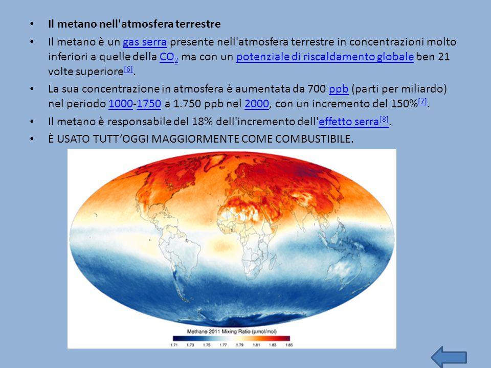 Il metano nell atmosfera terrestre