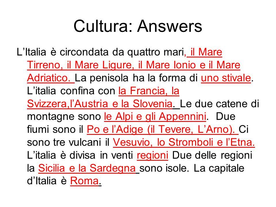 Cultura: Answers