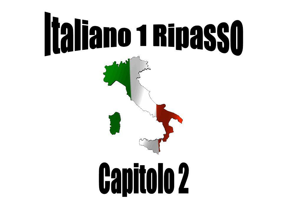 Italiano 1 Ripasso Capitolo 2