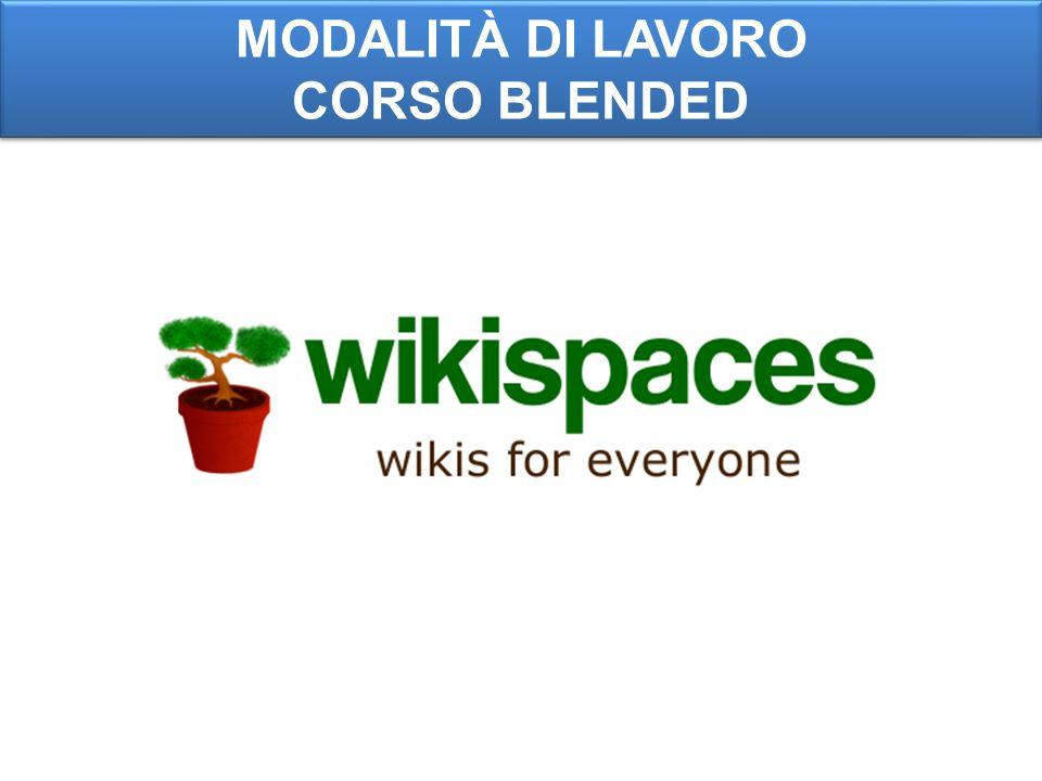 MODALITÀ DI LAVORO CORSO BLENDED