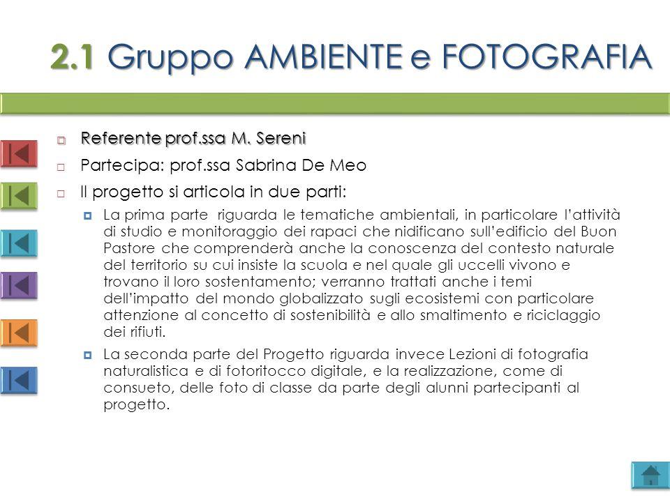2.1 Gruppo AMBIENTE e FOTOGRAFIA