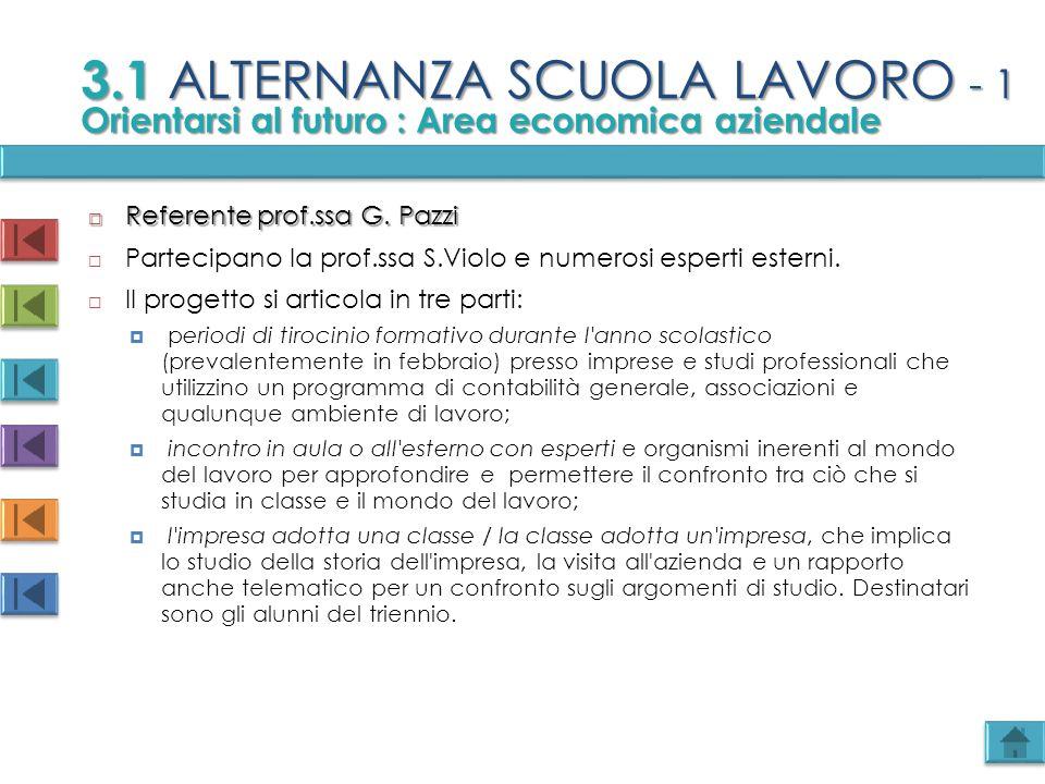 3.1 ALTERNANZA SCUOLA LAVORO - 1