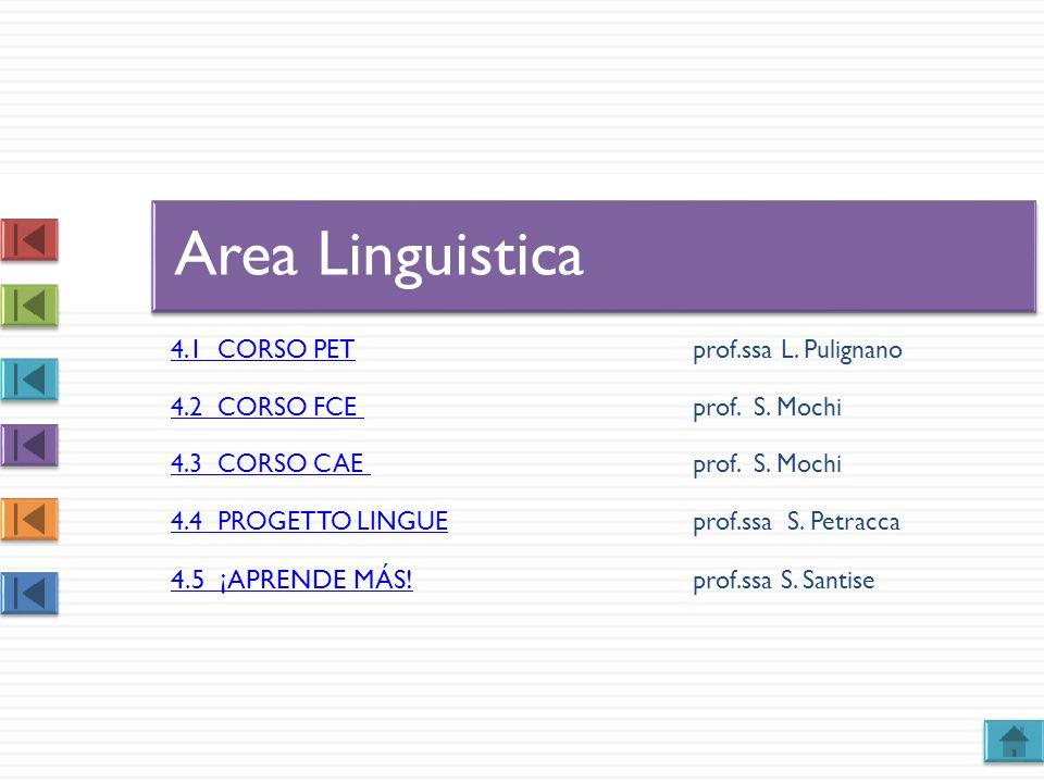 Area Linguistica 4.5 ¡APRENDE MÁS! prof.ssa S. Santise