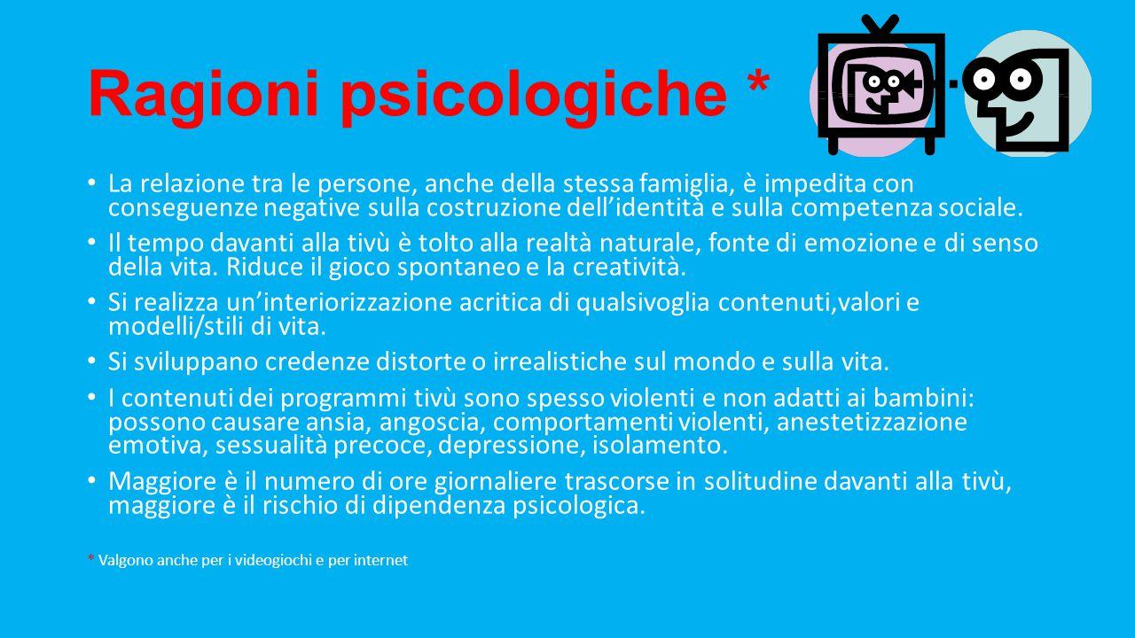 Ragioni psicologiche *