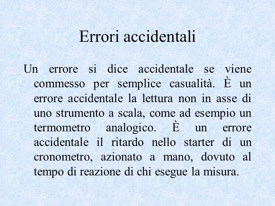 Errori accidentali