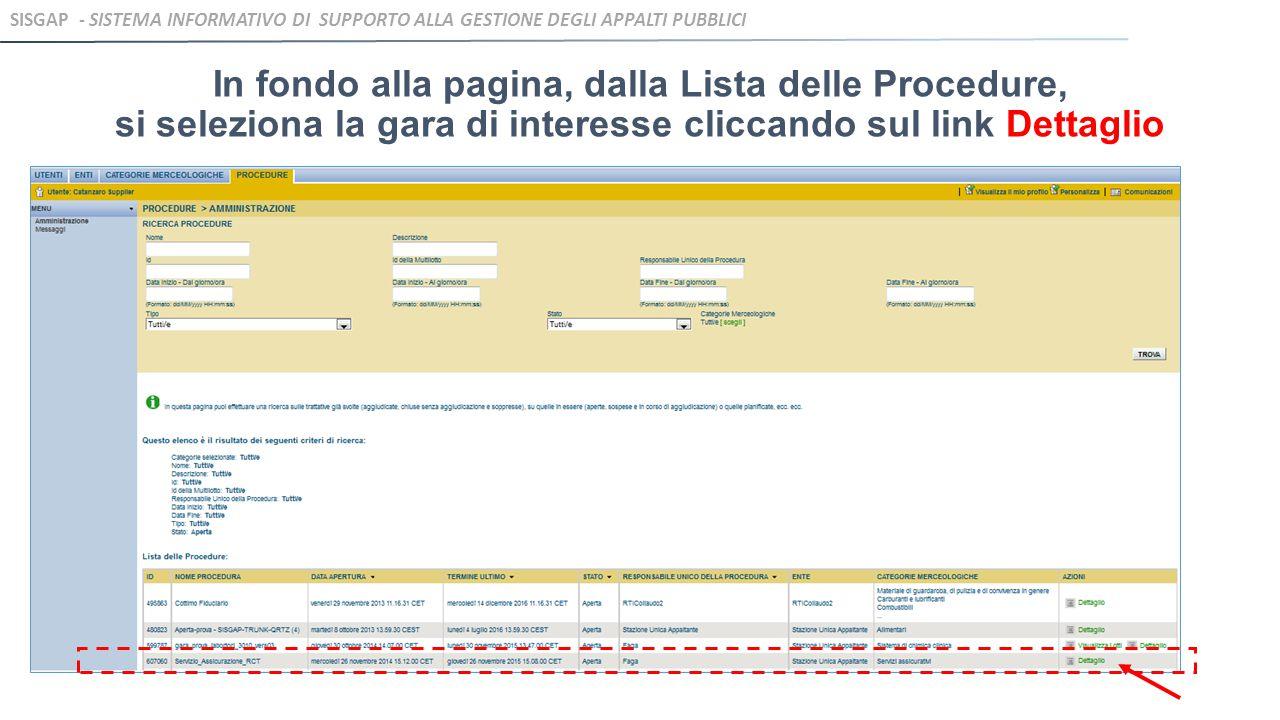SISGAP - Sistema Informativo di Supporto alla Gestione degli Appalti Pubblici