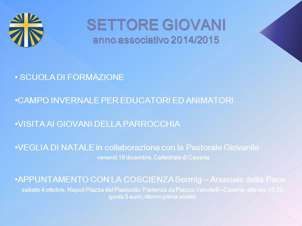 SETTORE GIOVANI anno associativo 2014/2015