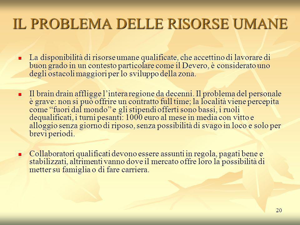 IL PROBLEMA DELLE RISORSE UMANE