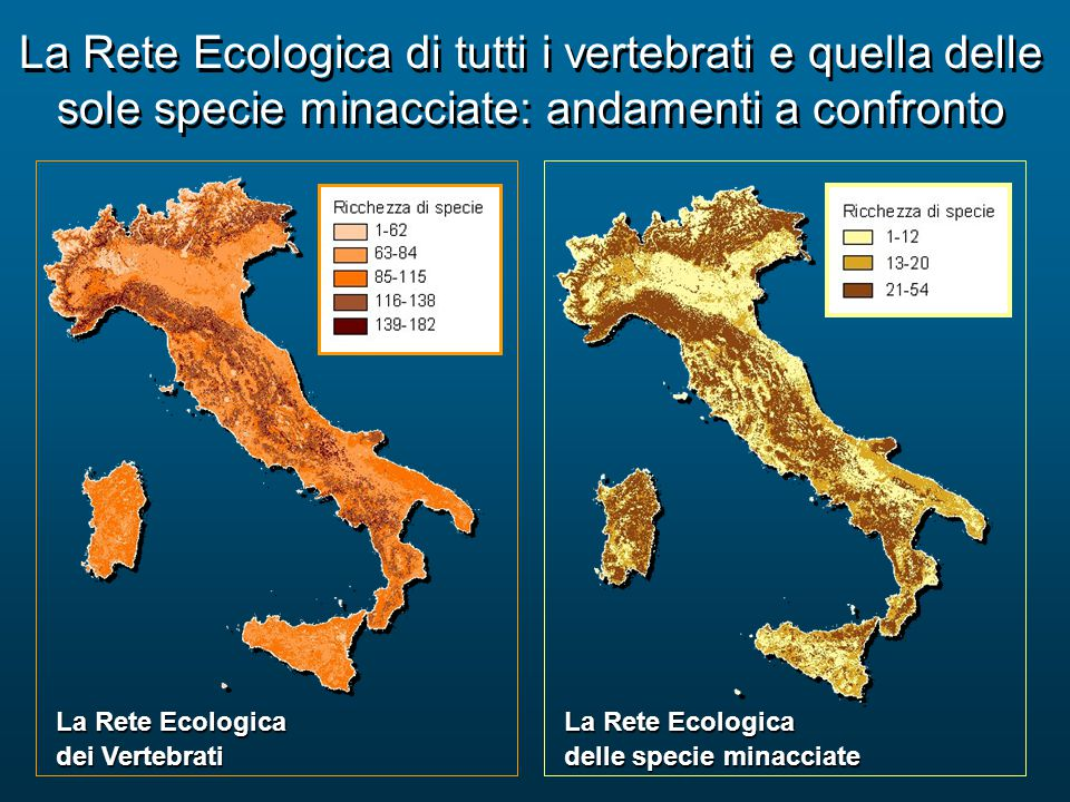 La Rete Ecologica di tutti i vertebrati e quella delle sole specie minacciate: andamenti a confronto