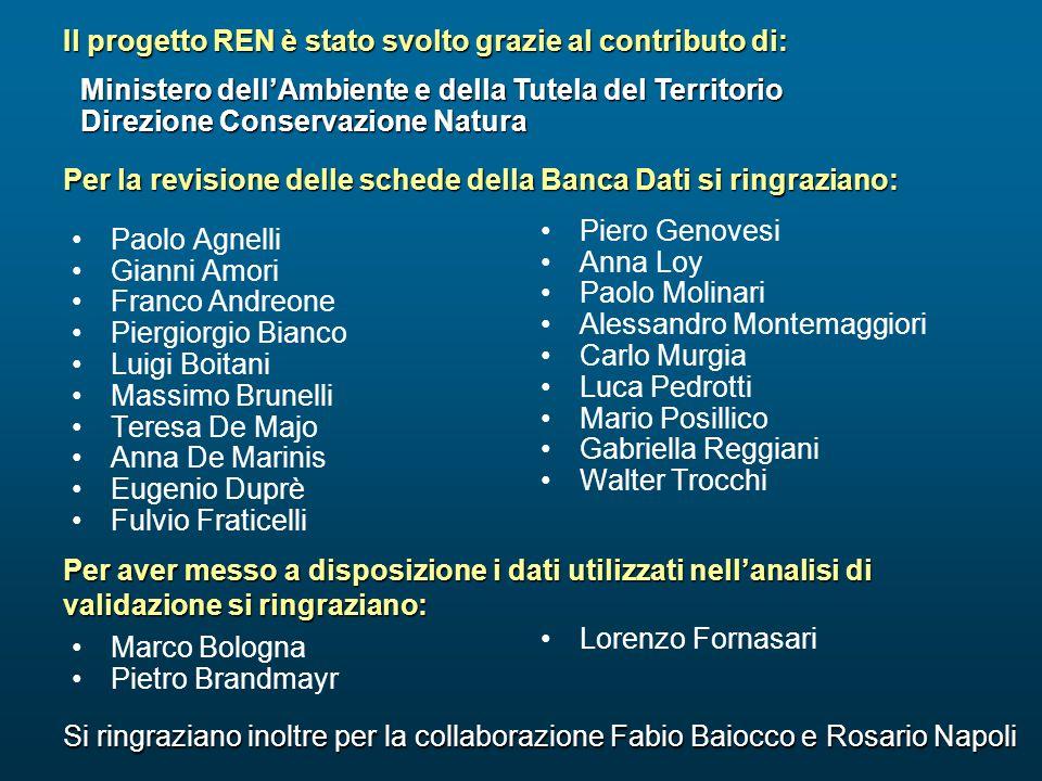 Il progetto REN è stato svolto grazie al contributo di: