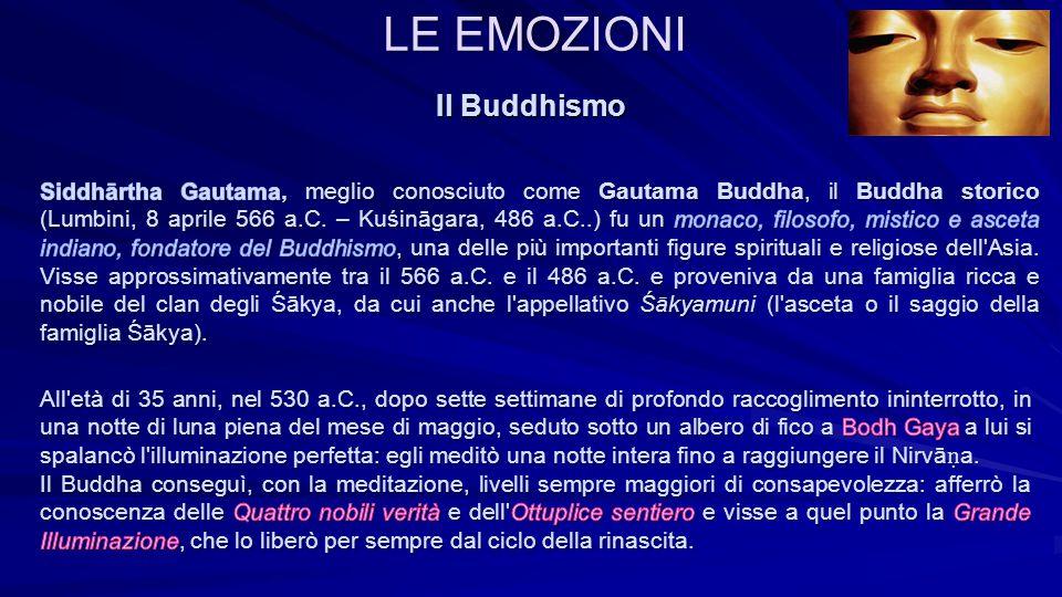 LE EMOZIONI Il Buddhismo