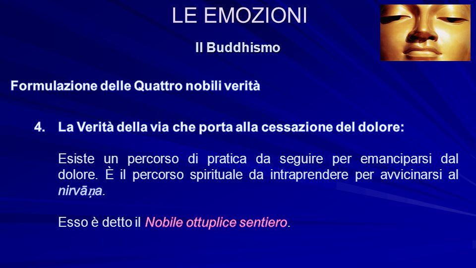 LE EMOZIONI Il Buddhismo Formulazione delle Quattro nobili verità