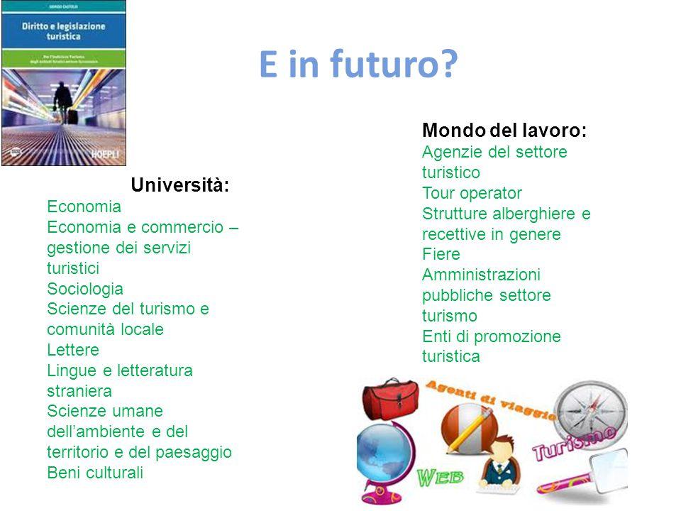 E in futuro Mondo del lavoro: Università: