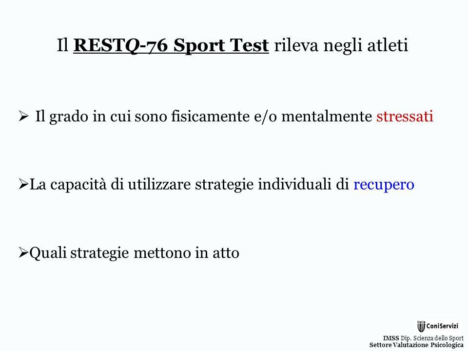 Il RESTQ-76 Sport Test rileva negli atleti