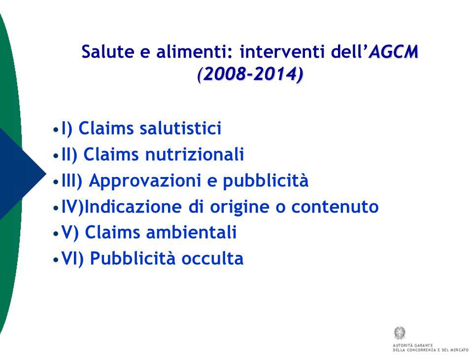 Salute e alimenti: interventi dell'AGCM (2008-2014)