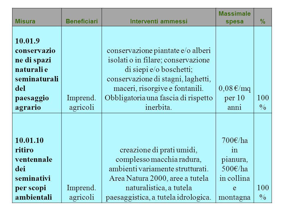 Psr 2014 2020 reg ue 1305 2013 presentazione delle for Conversione are mq