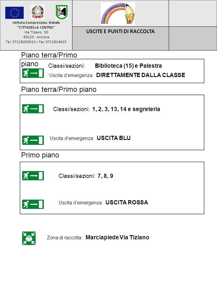 Istituto Comprensivo Statale USCITE E PUNTI DI RACCOLTA