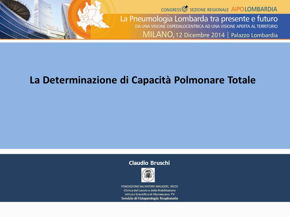 La Determinazione di Capacità Polmonare Totale