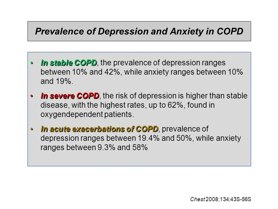 Prevalence of Depression and Anxiety in COPD
