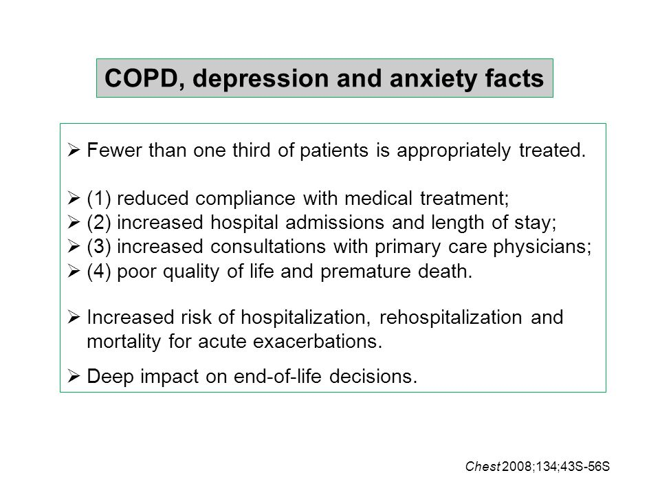COPD, depression and anxiety facts