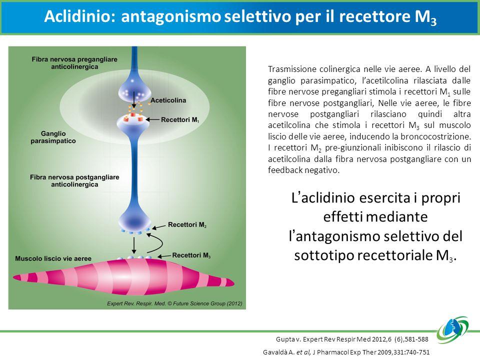 Aclidinio: antagonismo selettivo per il recettore M3