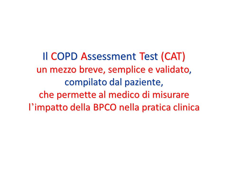 Il COPD Assessment Test (CAT)