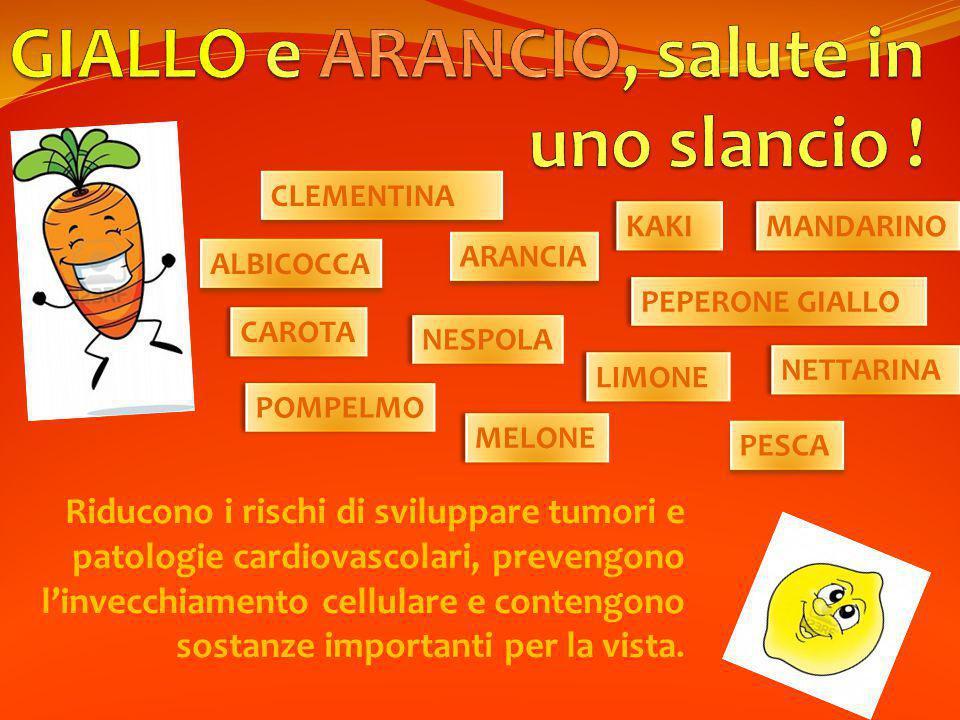 GIALLO e ARANCIO, salute in uno slancio !