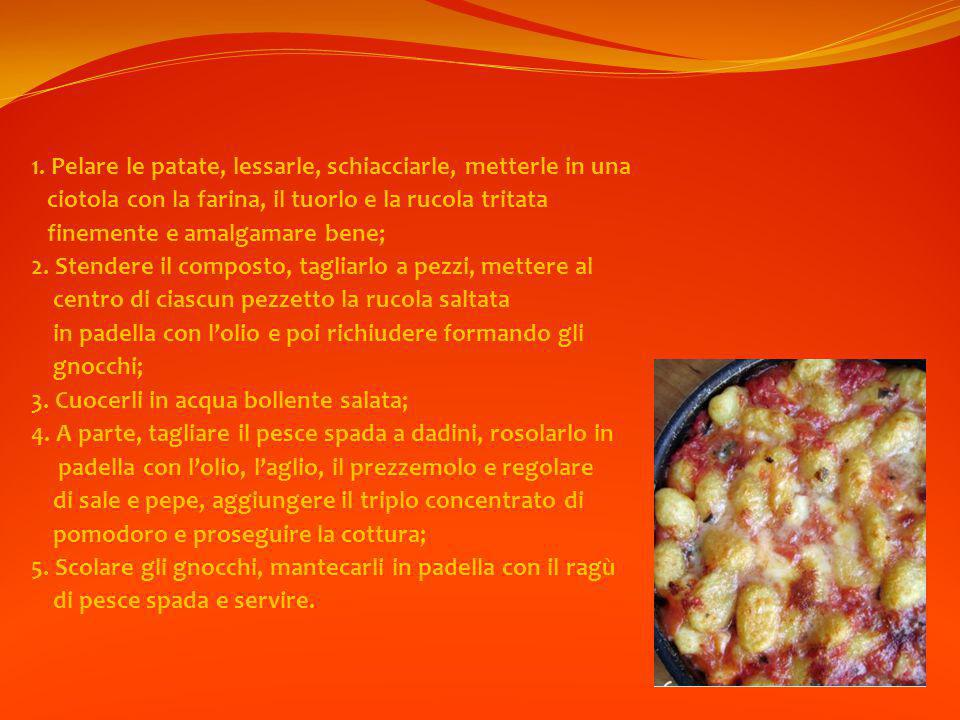 1. Pelare le patate, lessarle, schiacciarle, metterle in una