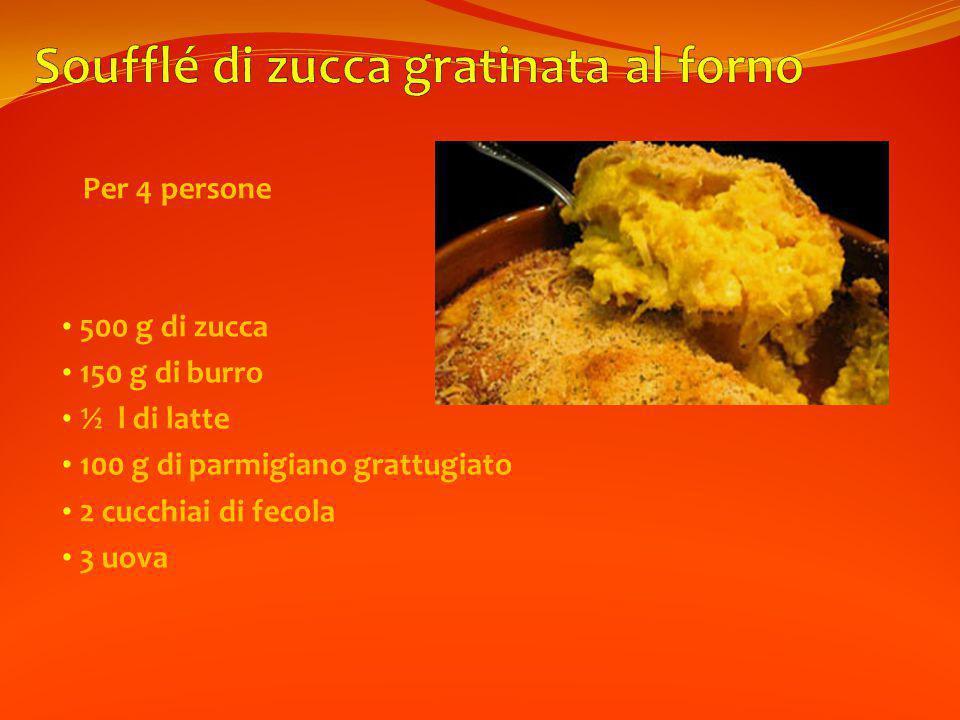 Soufflé di zucca gratinata al forno