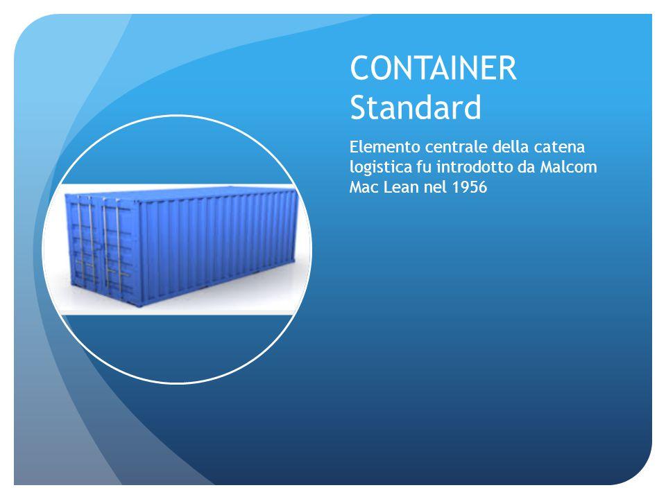 CONTAINER Standard Elemento centrale della catena logistica fu introdotto da Malcom Mac Lean nel 1956.