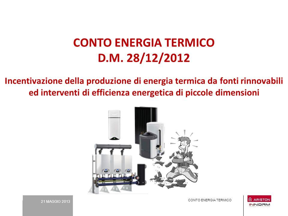 CONTO ENERGIA TERMICO D. M