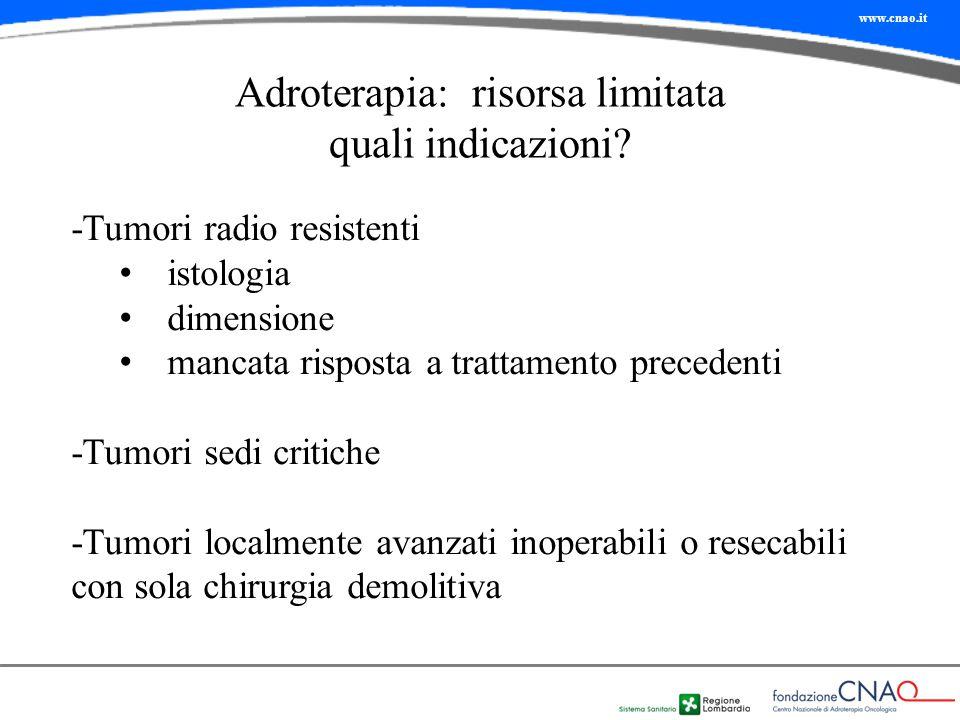 Adroterapia: risorsa limitata quali indicazioni
