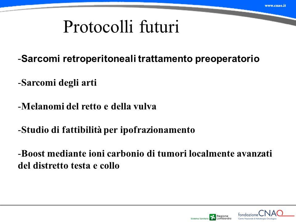 Protocolli futuri Sarcomi retroperitoneali trattamento preoperatorio